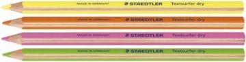 STAEDTLER TEXTSURFER HIGHLIGHTER PENCILS PACK of 4 by Colour or Mixed Set